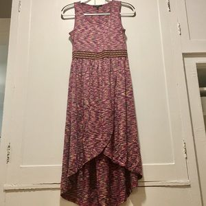 NWOT XS Cable & Gauge high Low Dress, Multicolored